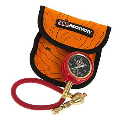ARB ARB505 E-Z Deflator Kit 10-60 PSI Tire Pressure Gauge Rapid Air Down Offroad Kit (PSI),Orange: Automotive