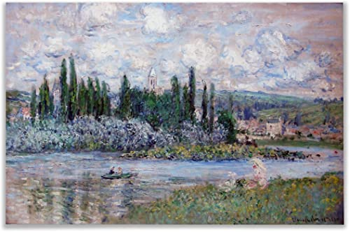 Monet Wall Art Collection Canvas View of Vetheuil