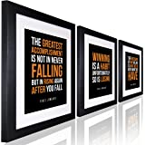 Inspirational Wall Art Vince Lombardi Quote Inspirational Quote for Office SET OF 3 Wall Art for Office Entrepreneur 11x14 Framed Art