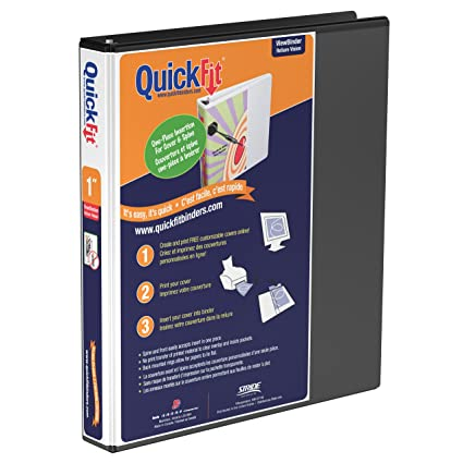 amazon com quickfit view binder 1 inch angle d ring black