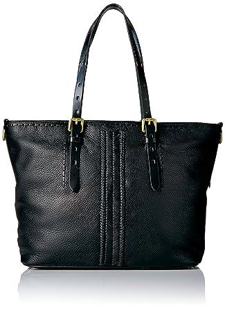 8d7f2c2529 Amazon.com: Cole Haan Loralie Whipstitch Medium Zip Top Tote, black:  Clothing