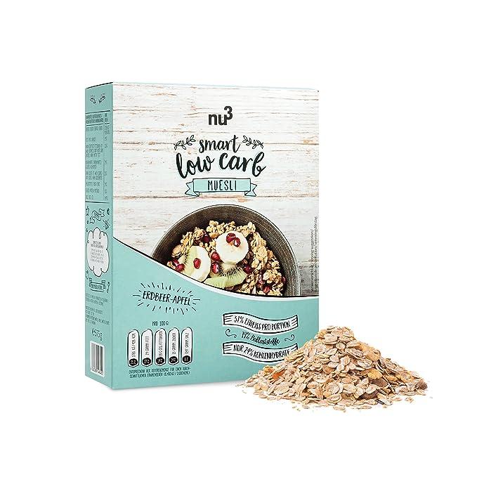 nu3 Muesli Low Carb sabor fresa y manzana | 575g de mezcla de avena y cereales