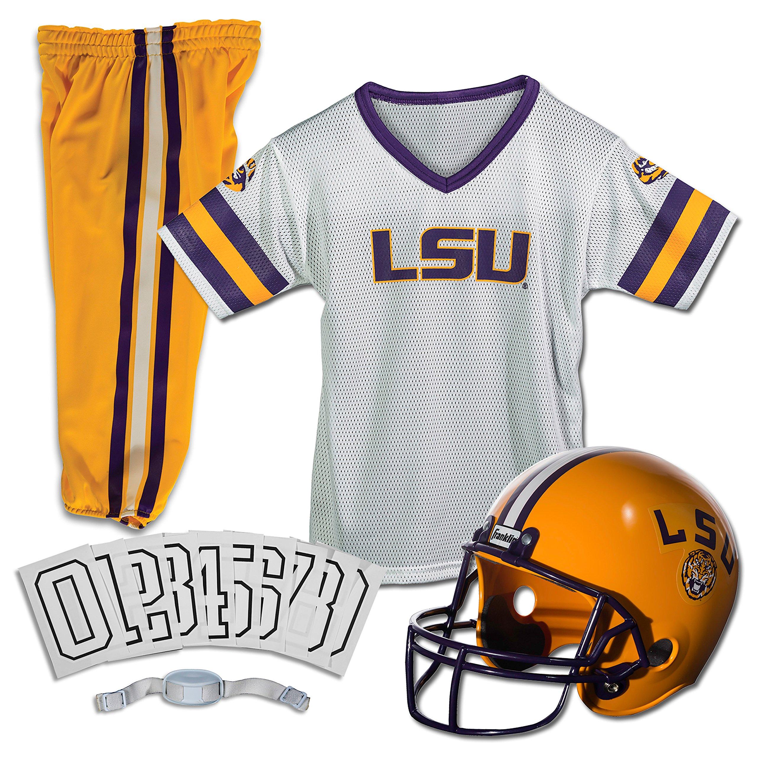 Franklin Sports NCAA Louisiana State Fightin Tigers Deluxe Youth Team Uniform Set, Medium