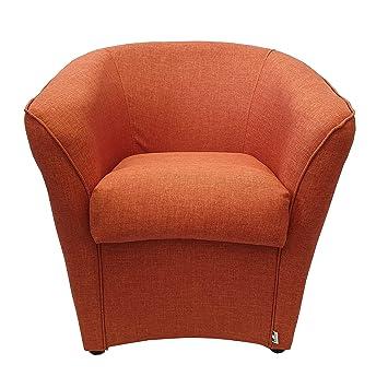 Poltrona A Pozzetto.Toto Piccinni Poltrona A Pozzetto Design Alta Qualita Made In Italy Tessuto Arancione