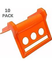 "DKG STRAPS Plastic Tie Down Protectors - Heavy Duty Flatbed Strap Edge Corner Guard-À""Prevents Damage to Cargo Edges & Webbing À"" Extends Strap Life À"" Secure Cargo Safely & Reliably (10 Pack)"