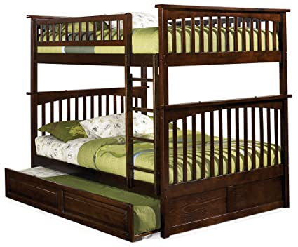 Amazon Com Columbia Bunk Bed With Trundle Bed Full Over Full