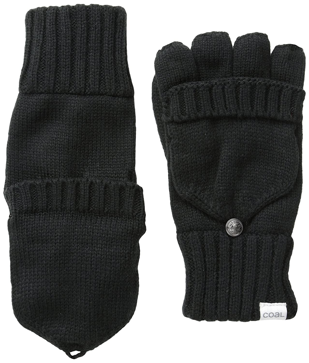Coal Men's Woodsmen Convertible Glove Black One Size Coal Young Men's 209303