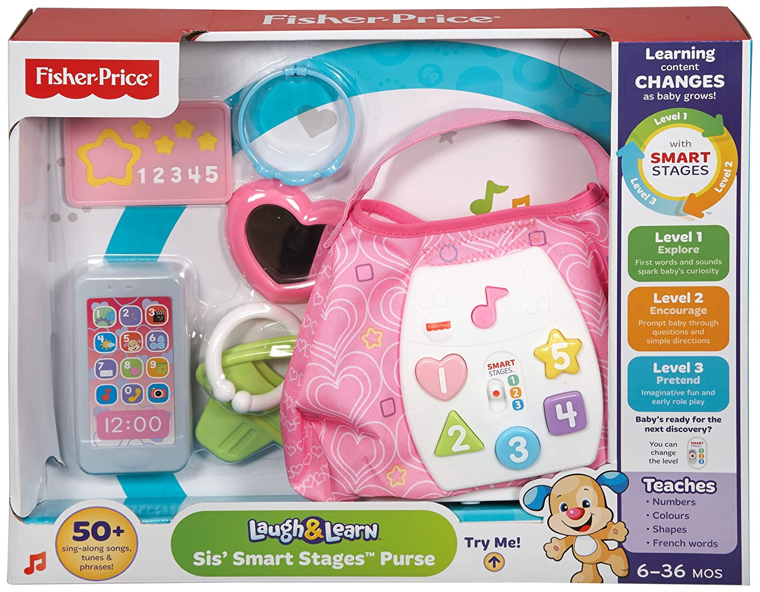 Fisher-Price Laugh & Learn Sis Smart Stages Purse by Fisher-Price ...