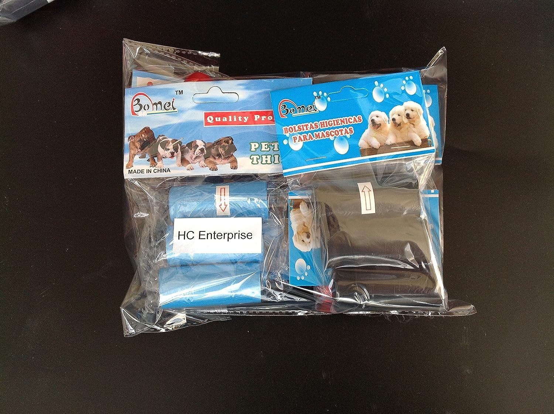 Bolsa caca perro, bolsa excremento perro, pack de 18 rollos de 15 bolsas cada uno en total 270 bolsas, 37 cm de largo por 14 cm de ancho cada bolsa, ...