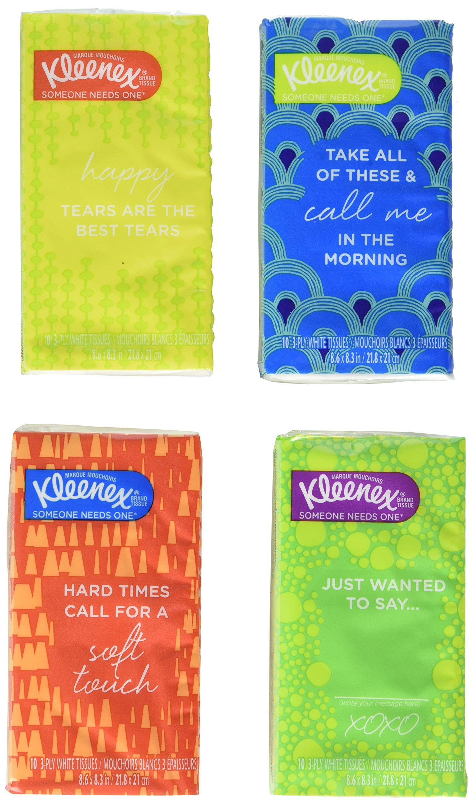 Kleenex Kimberly-Clark Kleenex White Facial Tissue, 32 Count - 10 3-ply White