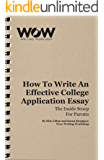 College application essay reader