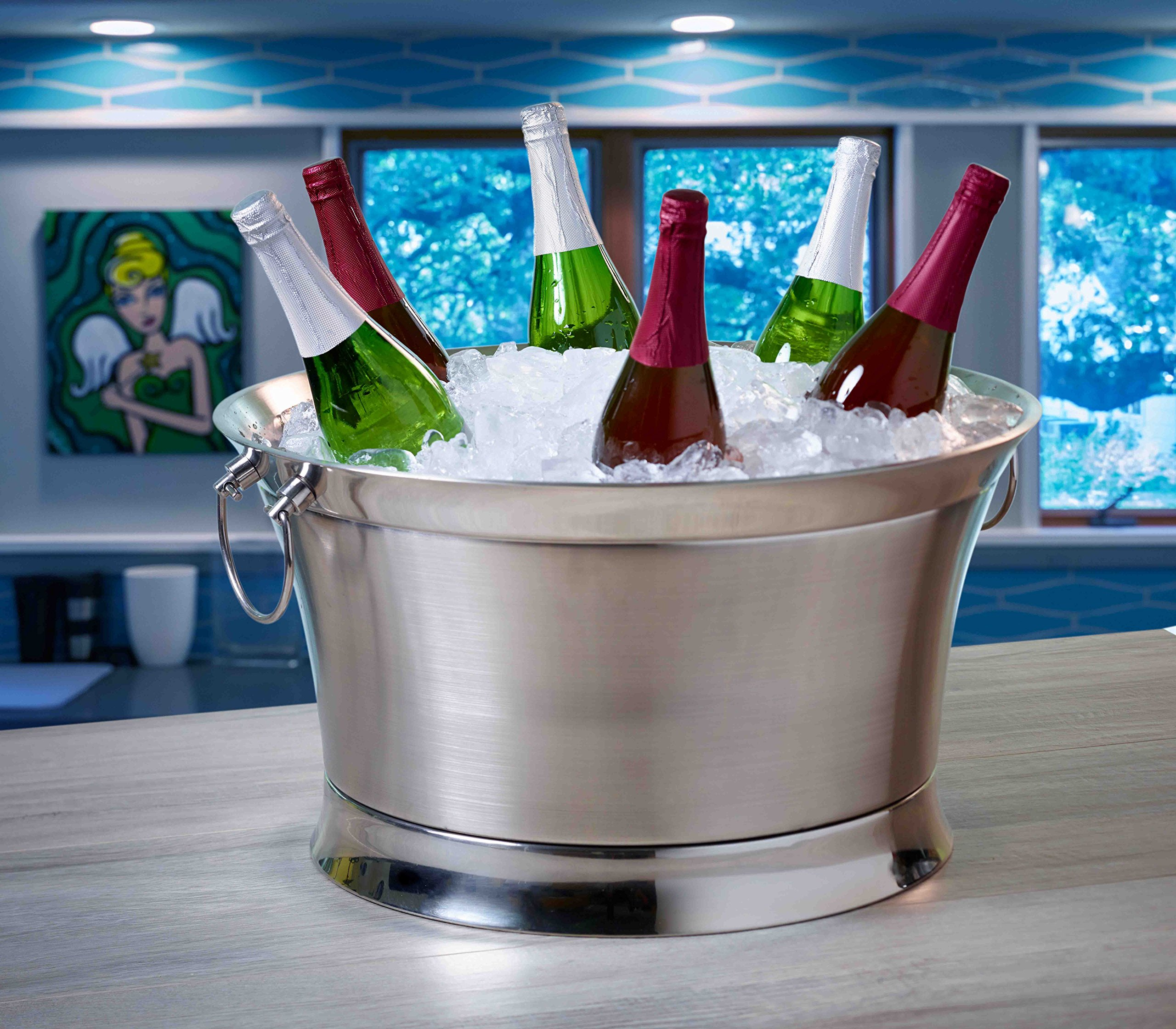 BirdRock Home Double Wall Round Beverage Tub | Stainless Steel | Large by BirdRock Home (Image #1)