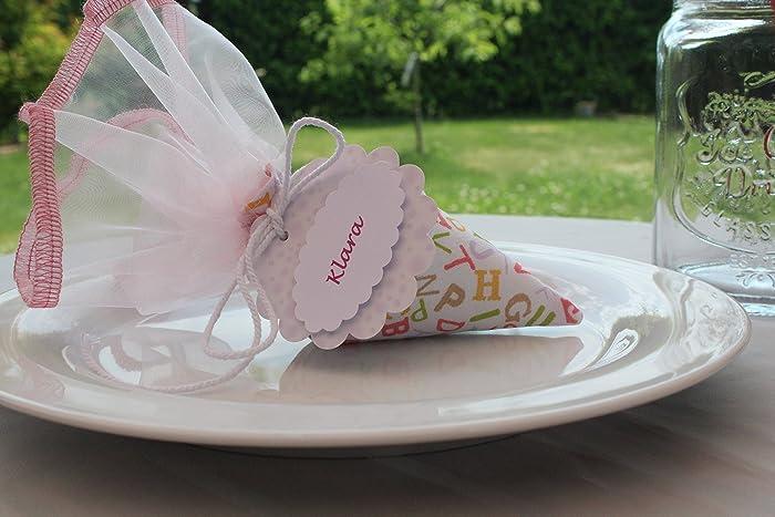 Minischultute Zur Einschulung Tischdeko Amazon De Handmade