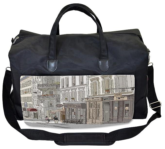 Amazon.com: lunarable Paris bolsa de gimnasio, viaje ...
