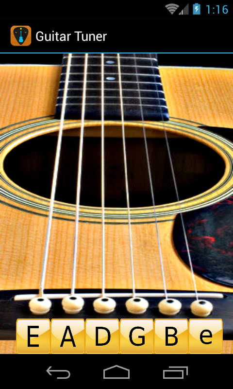 guitar tuner free guitartuna appstore for android. Black Bedroom Furniture Sets. Home Design Ideas