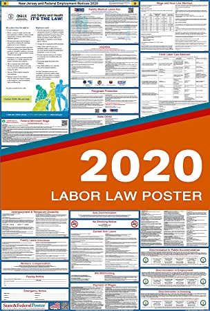 Water Proof Laminated Heavy Duty 2019 Colorado State and Federal Labor Law Poster Ultra-Wide