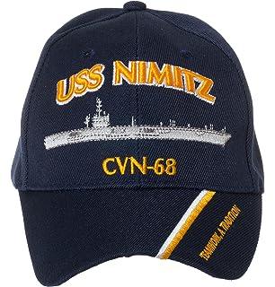 6e78cbdffc3ea Artisan Owl Officially Licensed USS Nimitz CVN-68 Embroidered Navy Blue  Baseball Cap