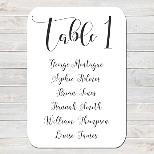plain table chart. Interesting Table Customised Seating Plan Card For Wedding Table Chart Plain Simple Stylish  Black U0026 White Throughout