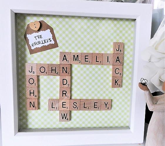 Personalised Scrabble Wall Art, Scrabble Frame,Scrabble Words, Letter  Frame, Letter Art