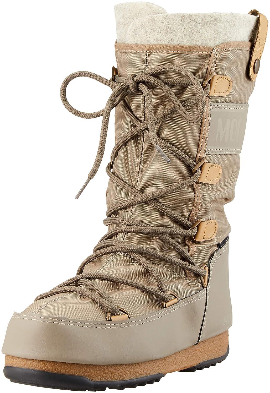 check out d1469 9e902 Moon-boot Women's W.E. Monaco Felt WP Snow Boots, Beige ...
