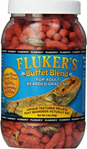Fluker's 76041 Buffet Blend Adult Bearded Dragon Formula, 2.9oz