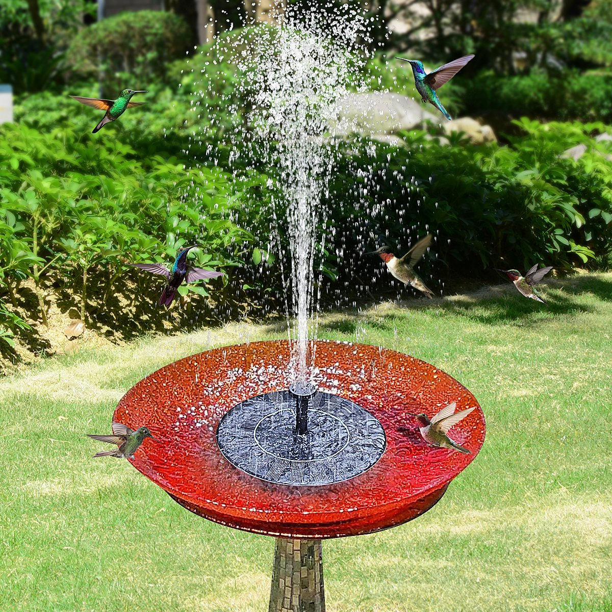 Tranmix Solar Fountain Pump for Bird Bath, 2018 Upgraded Floating Fountains Solar Panel Kit Water Pump for Ponds, Garden, Outdoor Décor by Tranmix (Image #3)