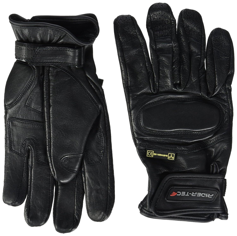 RIDER-TEC Gants Moto Cuir Homologu/é Noir Taille XXXL