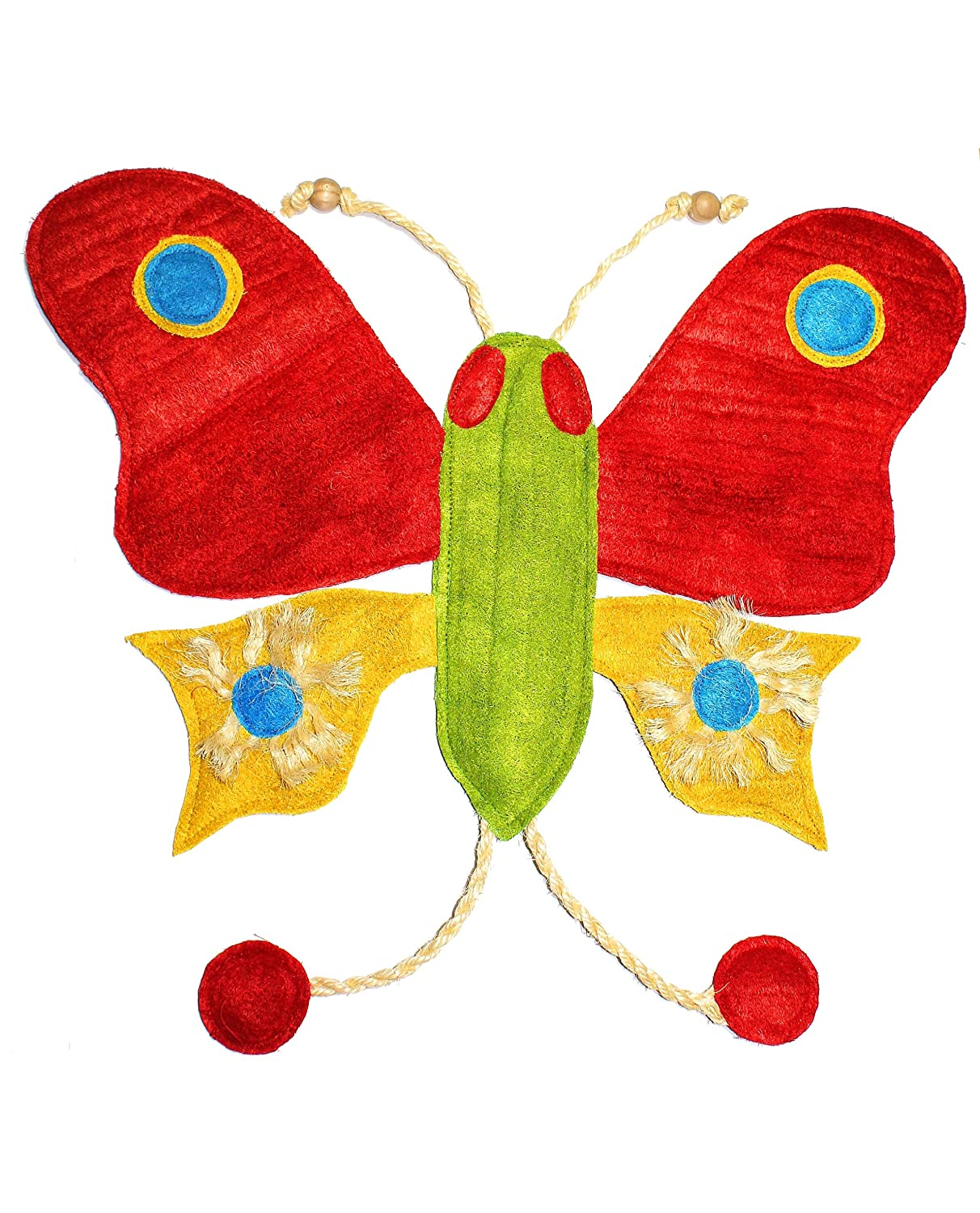 Eco-Loofah Original Play and Scratch Station Pet Toy, Butterfly Design(EPetBigB-BU)
