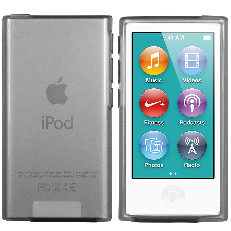 mumbi TPU Silikon Hülle für iPod Nano 7G Schutzhülle (7. Generation) transparent schwarz HandyNow.de 813-iPod-Nano