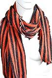 mySchal Vronie: Schal für Damen und Herren in grau & orange aus Wolle
