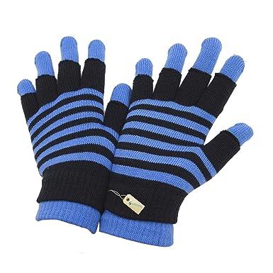 Gants magiques thermiques 2-en-1 (gant ou mitaine) - Femme (Taille unique)  (Bleu)  Amazon.fr  Vêtements et accessoires b19f0452c1f9