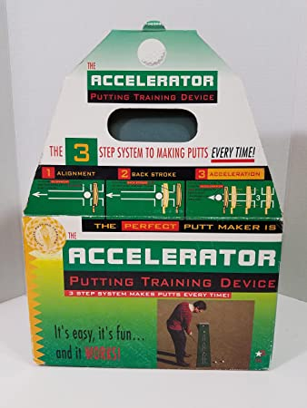 The Accelerator Putting Training Device, 3 Step Sytem Makes Putts Every Time.
