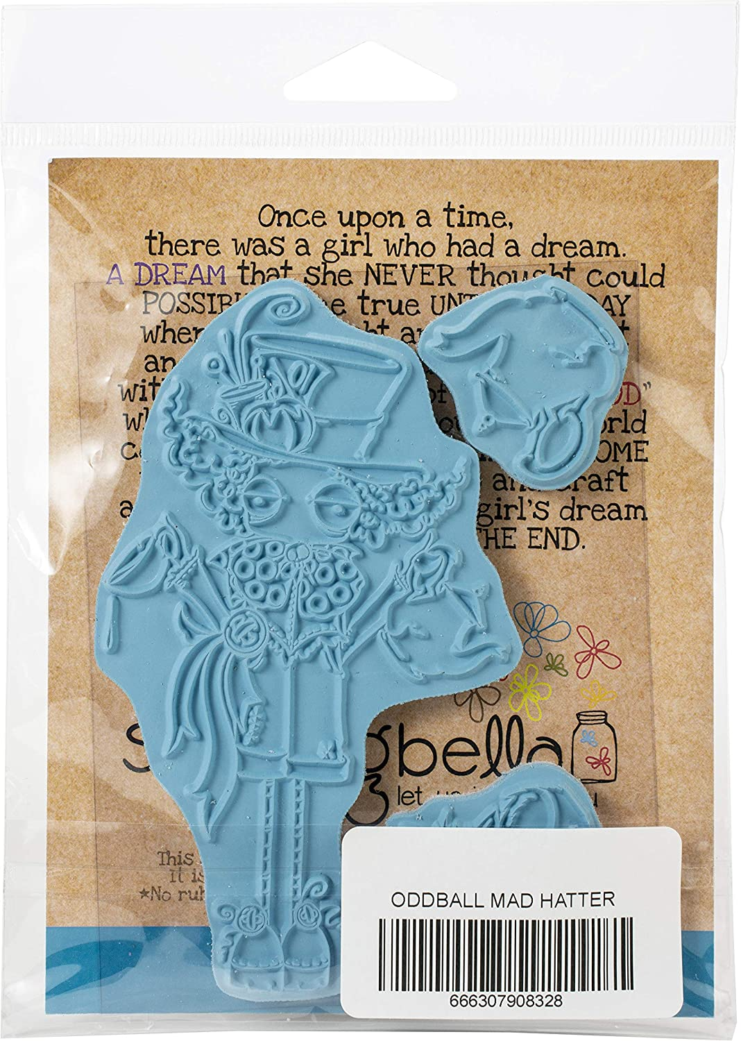 us:one size Oddball Mad Hatter Stamping Bella Stamp OB HAT