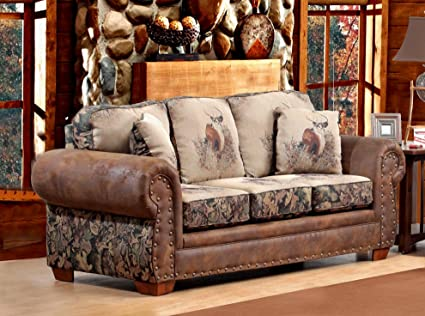 Chelsea Home Furniture Glendale Sofa, I/O/A Trophy Buck/Camo/