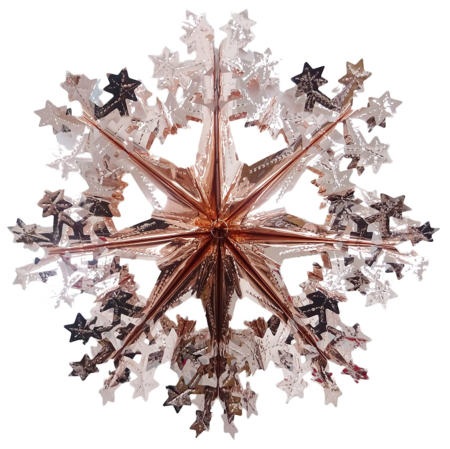 40cm Rose Gold Snowflake Foil Garland Christmas Decoration PMS