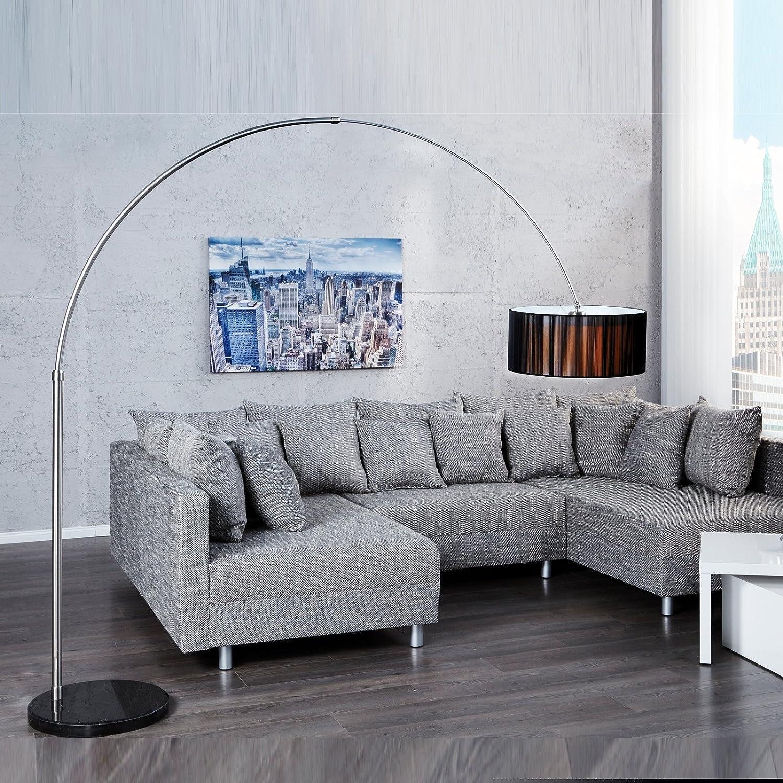 Design Bogen Stehlampe New York 205cm H Bogenlampe Mit