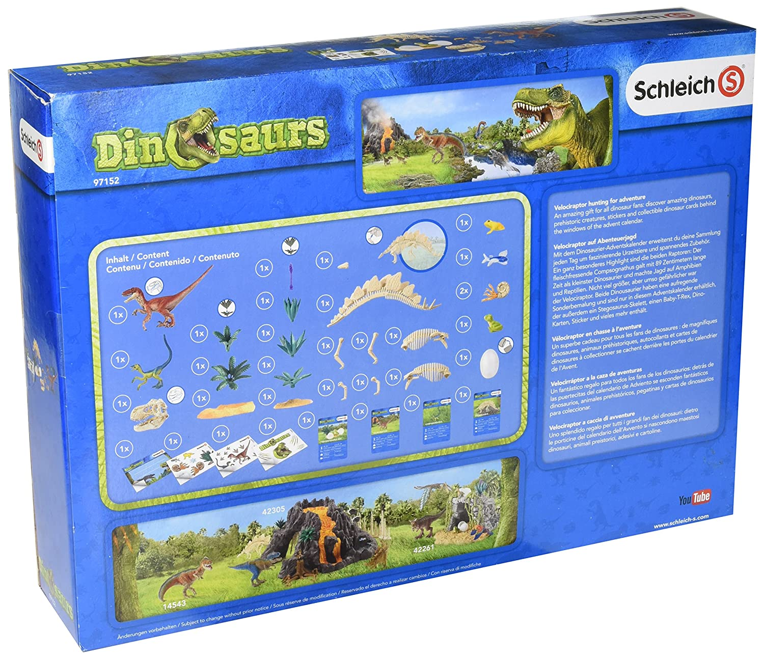 Amazon.com: Dinosaurs 97152 Dinosaurs Advent calendar 2016 ...
