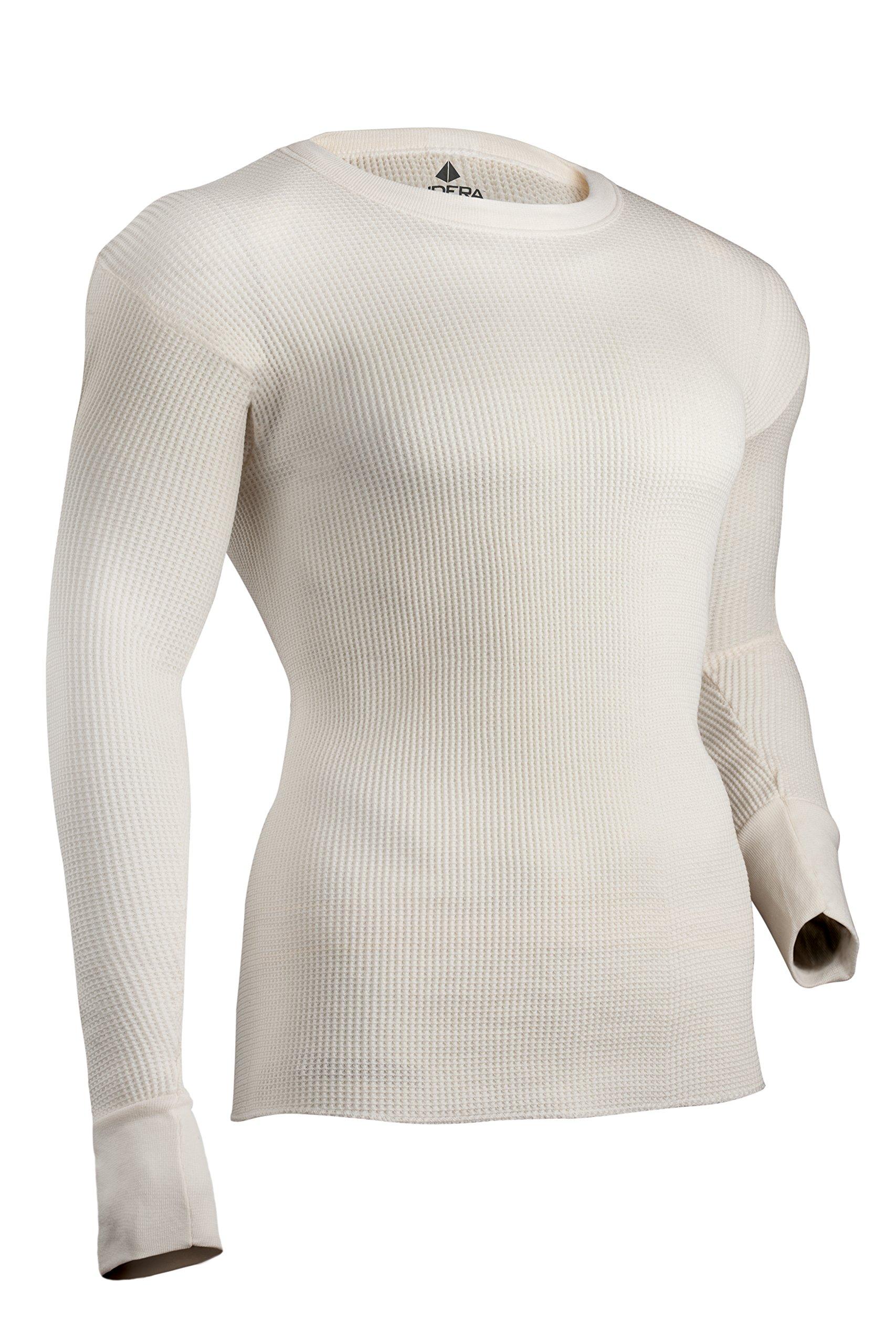 Indera Men's Maximum Weight Thermal Underwear Top, Natural, X-Large by Indera