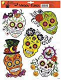 Day of the Dead Sugar Skull Halloween Window Clings