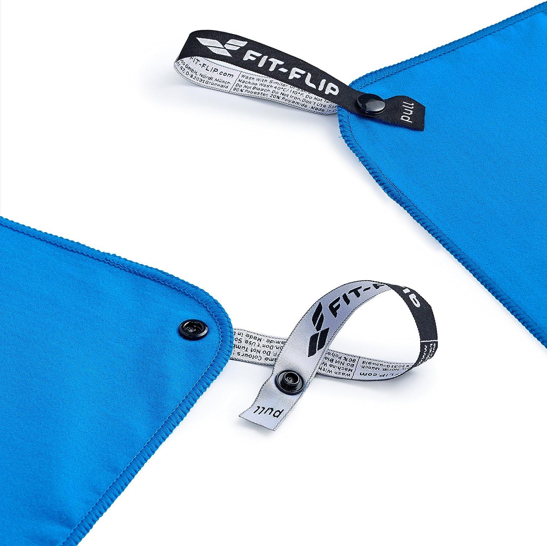 Asciugamano Viaggio e Asciugamano Palestra Fit-Flip Asciugamano in Microfibra Microfibra Asciugamano in Tutte Le Misure // 12 Colori Il Perfetto Asciugamano Sport Compatto /& Ultraleggero