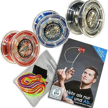 YoyoFactory Fast 201 Yo-Yo Ideal für Anfänger, Moderne Leistung... SCHWARZ
