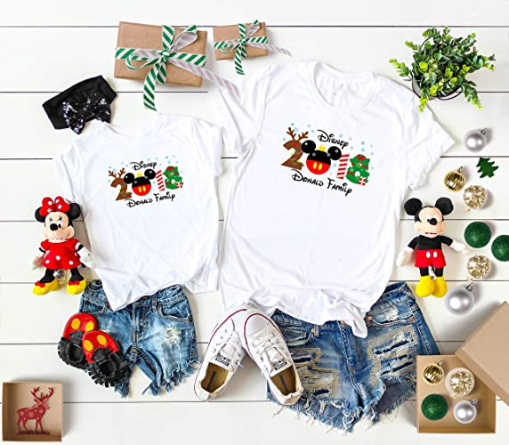 12c94ff1e Amazon.com: Disney Christmas 2018 matching Family shirts with Mickey, Xmas  Disney family matching shirts,Minnie shirts from 6 Months up to Adults 4XL:  ...