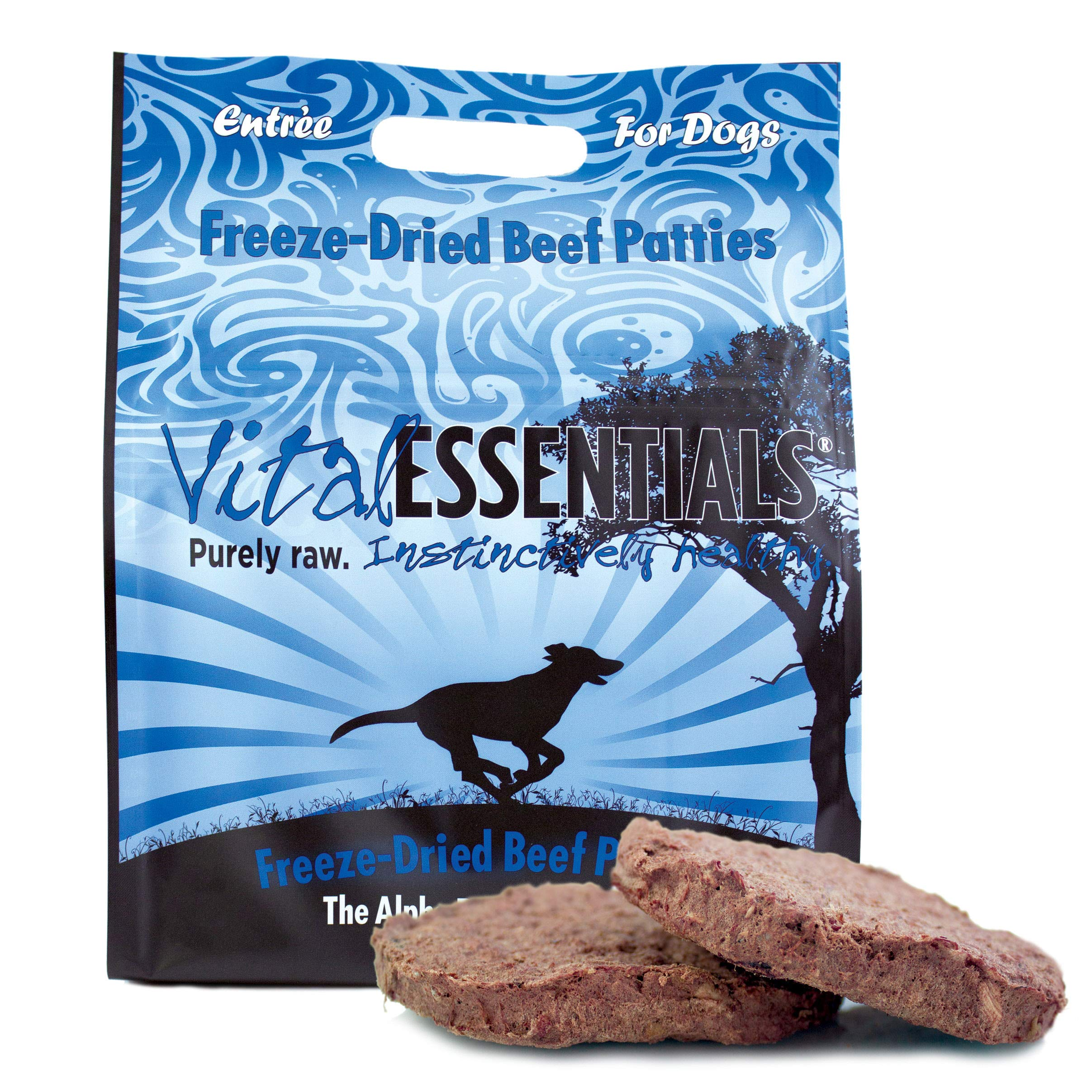 Vital Essentials Freeze Dried - All Natural - Raw - Grain Free Beef Patties Dog Food, 1 lb 14 oz Resealable Bag by Vital Essentials