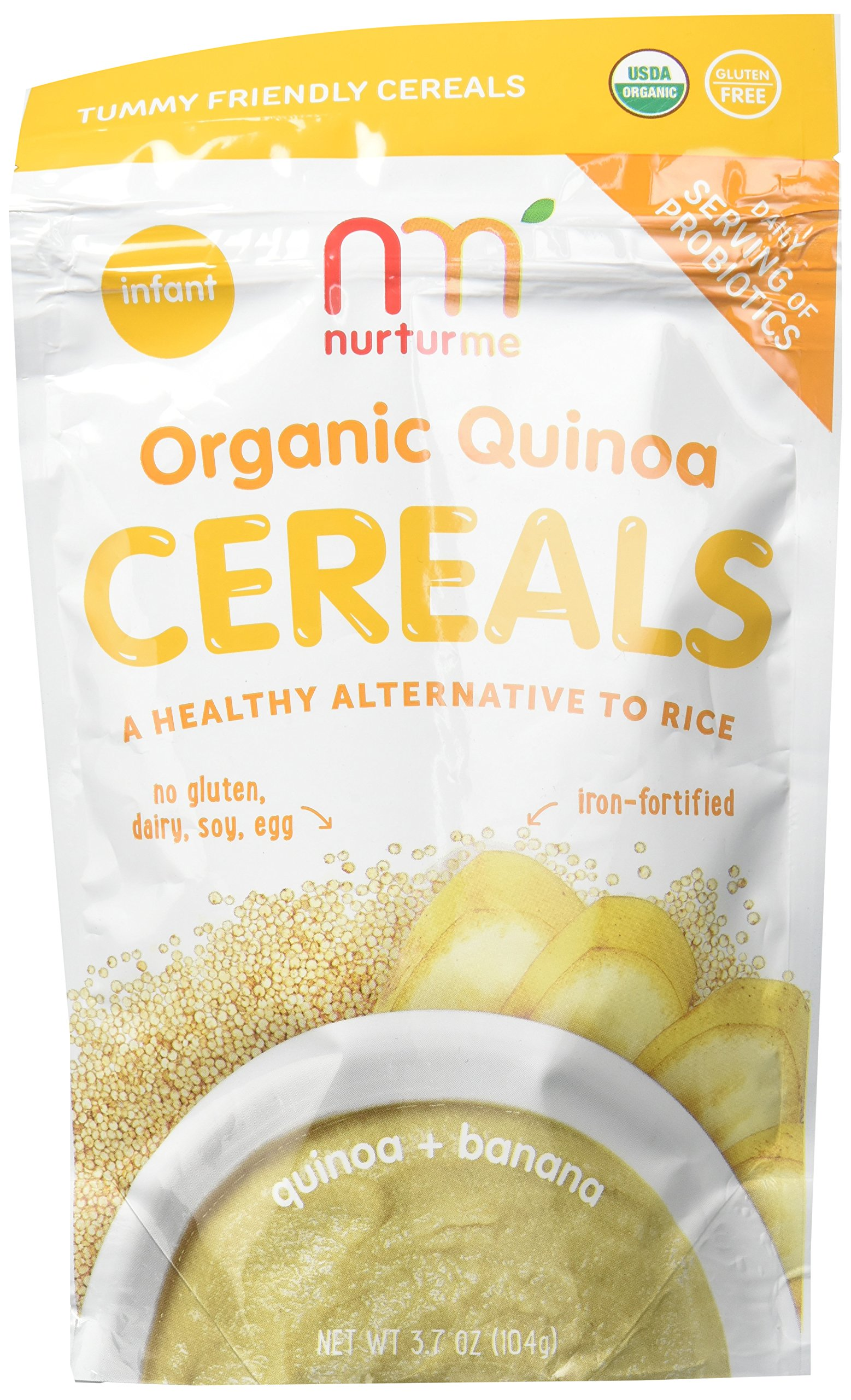 NurturMe Organic Infant Cereals, Quinoa/Banana, 3 Count