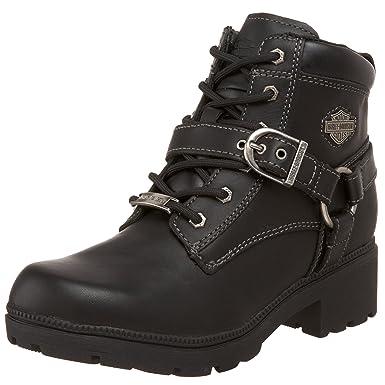 efb4c769280a Amazon.com  Harley-Davidson Women s Tegan 4-Inch Black Lace-Up Boots ...