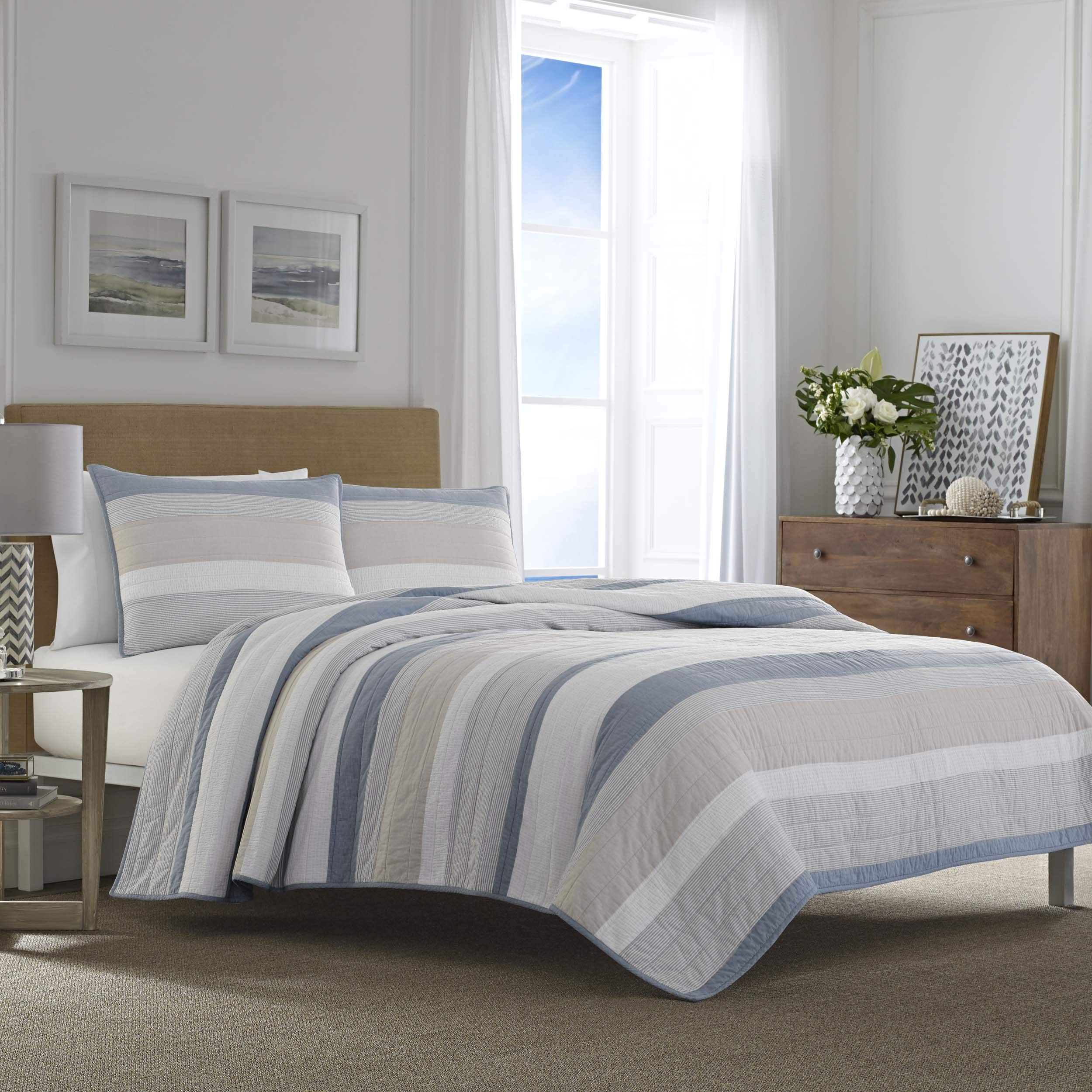 Nautica Terry Cove Quilt King Beige
