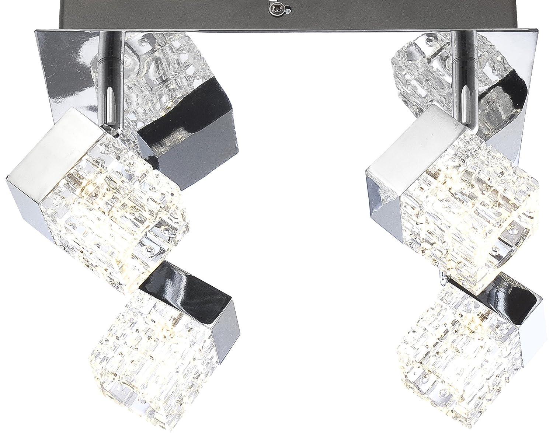 Globo Ankara LED lámpara del techo del níquel cromo cromo cromo mate 4xLED 83d9e7