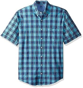 787dddf2 Amazon.com: IZOD Men's Tall Saltwater Dockside Button Down Short Sleeve  Plaid Shirt: Clothing