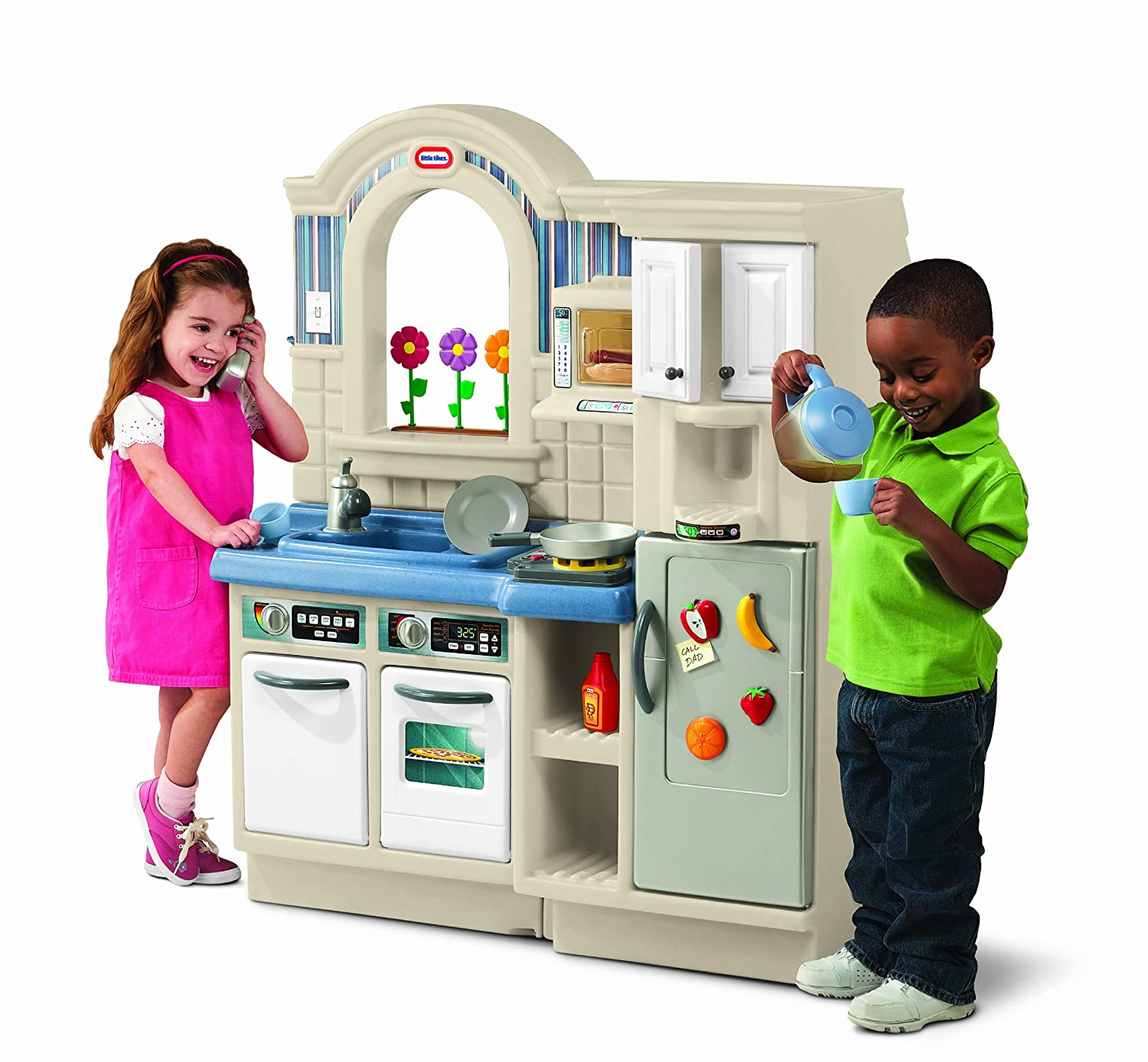 little tikes inside outside cook n grill kitchen toys