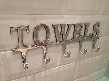 Superieur Large Towel Holder Rack 5 Hooks TOWELS Bathroom Hanger Highly Polished  Aluminium By Chattels